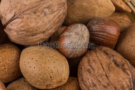 variety of mixed nuts