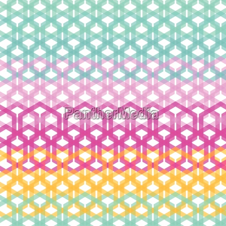 seamless geometric abstract pattern from hexagon