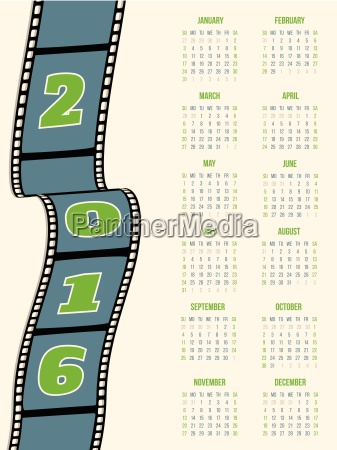 calendar design with film strip for