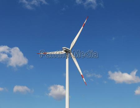 windmill turbine sky