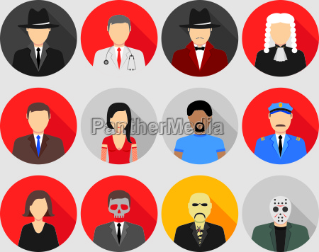 mafia characters set