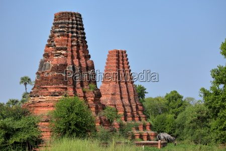 buddhist temples of ava in myanmar