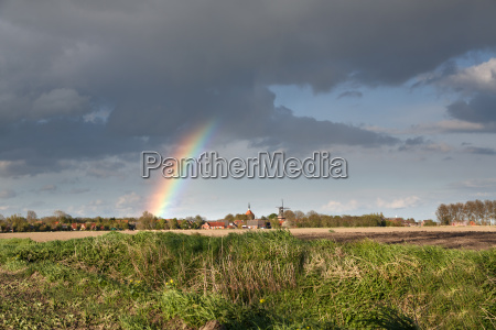 rainbow over ostfriesland