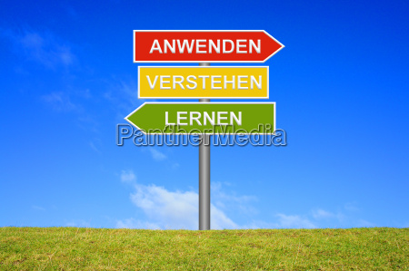 sign signpost indicates understand learn apply