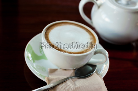 cup of coffee with hot tea