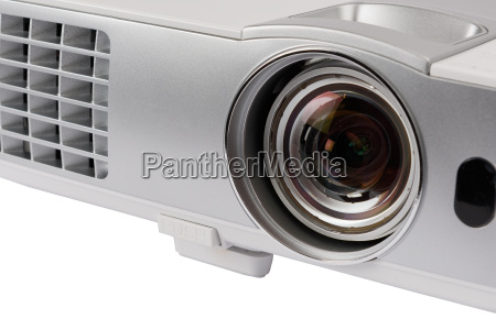 white home cinema projector isolated on