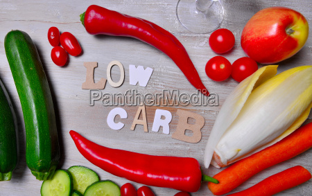 low carb vegetable letter text