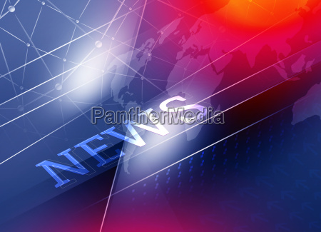 graphical digital connection and news background