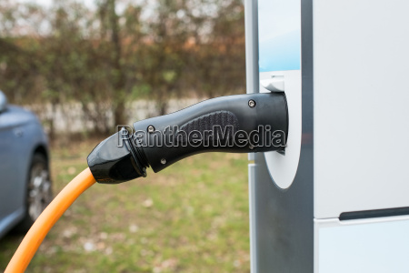charging station and electric car
