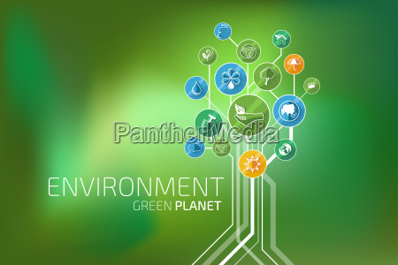 ecology infographic environment green planet