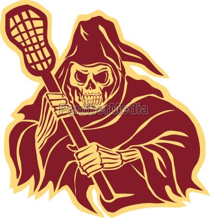 grim reaper lacrosse defense pole retro