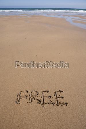 free on sand beach