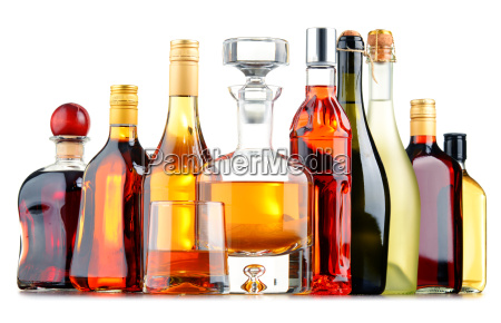bottles, of, assorted, alcoholic, beverages - 16133253