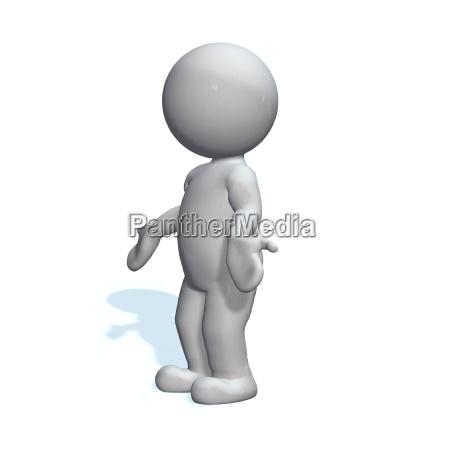 explain 3d man isolated