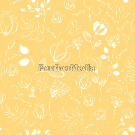 vector seamless pattern white flowers