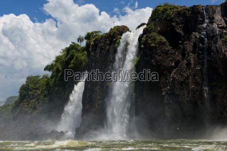 iguazu falls seen from the river