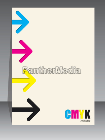 abstract cmyk brochure with arrows