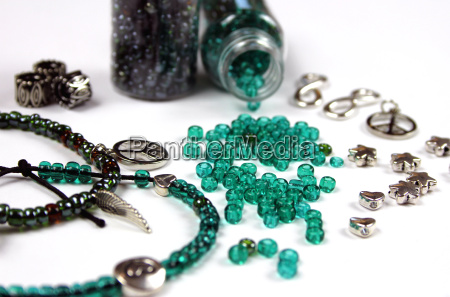 glass beads and accessories for jewelry