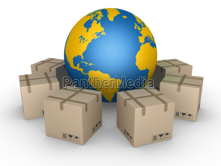 distribution of parcels all over the