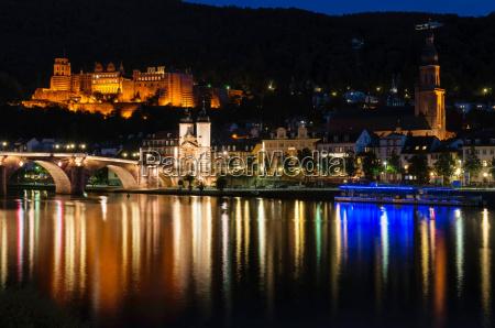 heidelberg city night view
