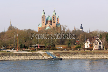 photographed speyer cathedral of salierbruecke from