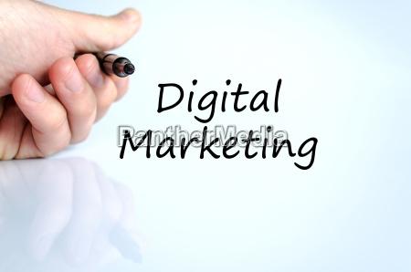 digital marketing text concept