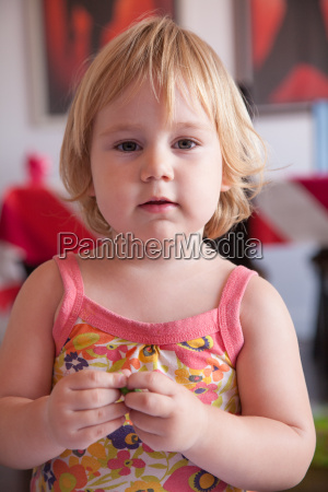 serious baby portrait