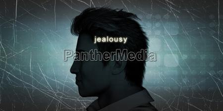 man experiencing jealousy