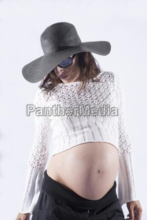 fashion model pregnant