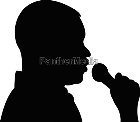 man talking to microphone at interview