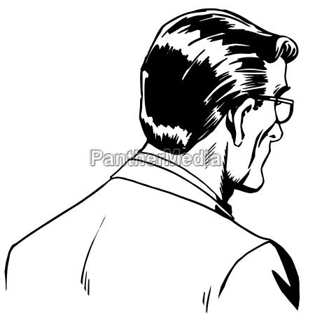 man businessman back online art