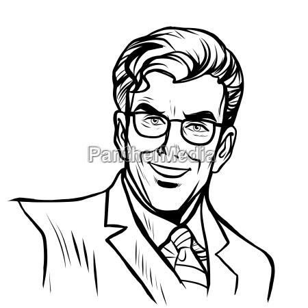 man businessman online art