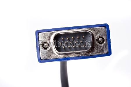 computer plug isolated on white background