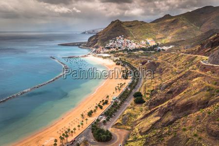 view of las teresitas beach tenerife