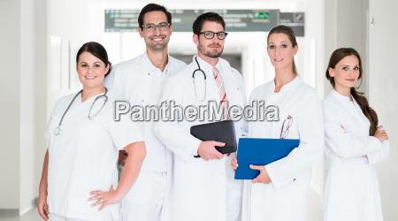 team of doctors in hospital is