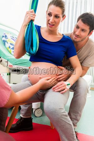 pregnant woman prepares for birth