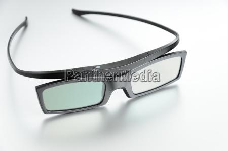 close up on lightweight 3d glasses