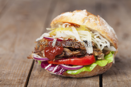 pulled pork in a bun