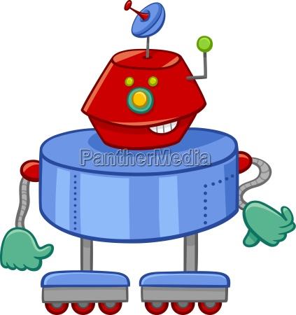 funny robot cartoon character