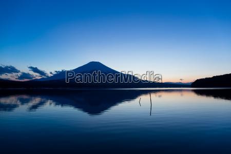 lake yamanaka with mountain fuji at