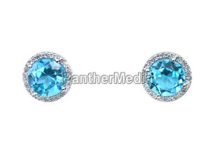 turquoise aquamarine blue topaz gemstone and