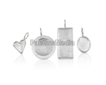 collection of silver jewelry necklace charms