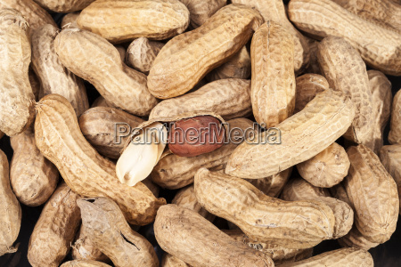 background of fruits of groundnut close