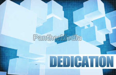 dedication on futuristic abstract