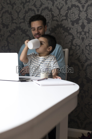 just like daddy does