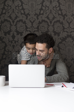 helping daddy with internet banking