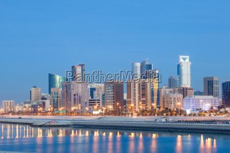 ciudad noche horizonte golfo