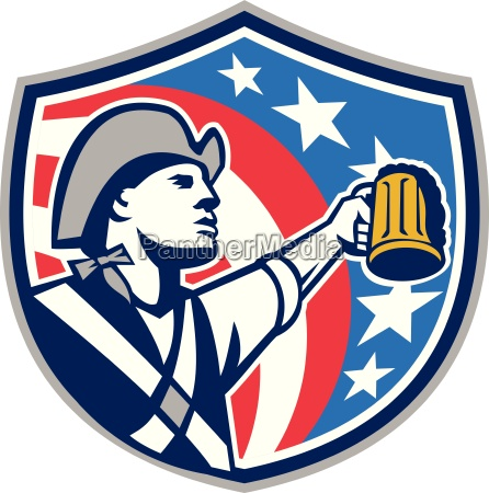 american patriot craft beer mug usa