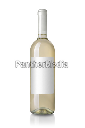 white wine bottle with label