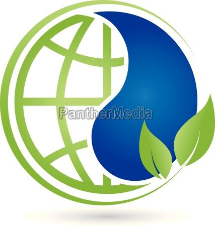 earth drops and leaves globe globe